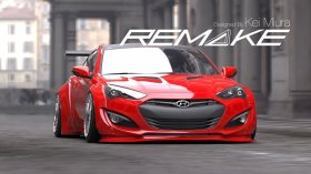 Remake Widebody Front and Rear Flares Genesis Coupe 2013 - 2016