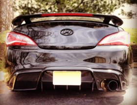 MyRides FRP Single Exit Rear Diffuser Genesis Coupe 2010 - 2016