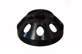 Torque Solution Lightweight Waterpump Pulley Genesis Coupe 3.8 2010 - 2016 (Black)