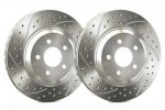 SP Performance FRONT Double Drilled and Slotted Rotors Genesis Coupe with Brembos - PAIR