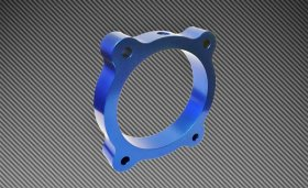 Torque Solution Blue Throttle Body Spacer Genesis Coupe 3.8L 2013 - 2016