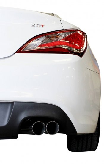 ISR PERFORMANCE EP (STRAIGHT PIPES) DUAL TIP EXHAUST GENESIS COUPE 2.0T 2010 - 2014