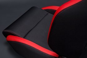 Sparco R100 Reclinbale Racing Seat Black Red Cloth