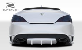 TP-R Rear Duraflex Lip Spoiler with Diffuser - 3 Piece 2010 - 2016 Hyundai Genesis Coupe