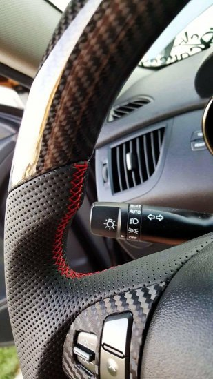 SGW D-Cut Custom Steering Wheel Genesis Coupe 2010 - 2016