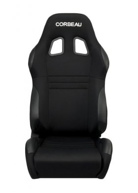 Corbeau A4 Reclinable Seat in Black Cloth - PAIR