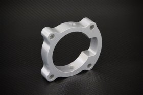 Torque Solution Silver Throttle Body Spacer Genesis Coupe 2.0T 2010 - 2012