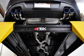 ARK DTS Exhaust System Genesis Coupe 2.0T - Burnt Tip 2010 - 2012