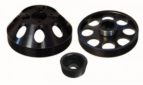 Torque Solution Lightweight Pulley Set Genesis Coupe 3.8 2010 - 2016 (Black)