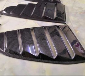 RMX Carbon Fiber Side Window Louvers Genesis Coupe 2010 - 2016