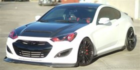 RK Sport FIBERGLASS Side Rocker Panels Genesis Coupe 2010 - 2016