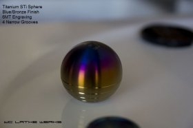 Lathewerks Grade 2 Titanium Sphere Shift Knob - Various Colors Genesis Coupe 2010 - 2012
