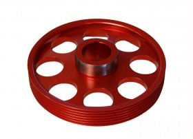 Torque Solution Lightweight Crank Pulley Genesis Coupe 3.8 2010 - 2016 (Red)
