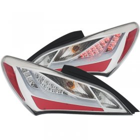 ANZO LED TAIL LIGHTS CHROME GENESIS COUPE 2010 - 2016