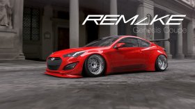 Remake Widebody Rear Flares Genesis Coupe 2010 - 2016