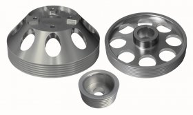 Torque Solution Lightweight Pulley Set Genesis Coupe 3.8 2010 - 2016 (Silver)