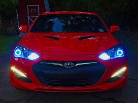 Diode Dynamics BLUE HD LED Halos Genesis Coupe 2010 - 2016