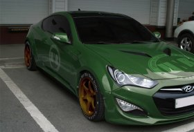 UNR WIDEBODY FRONT FENDER FLARE KIT GENESIS COUPE 2010 - 2016
