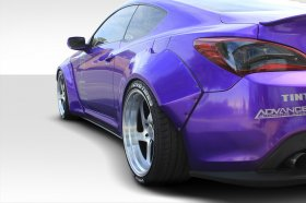 Extreme Dimensions Duraflex Circuit 75 MM Rear Fender Flares Genesis Coupe 2013 - 2016