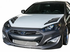 RK Sport Extractor Hood with Carbon Fiber Vents 2013 - 2016 Hyundai Genesis Coupe