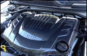 GDI-Style Carbon Fiber Engine Cover 2010 - 2012 Genesis Coupe 3.8