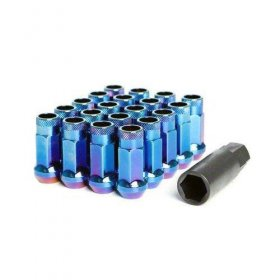 Muteki SR48 Lug nuts - Burned Blue Genesis Coupe 2010 - 2016