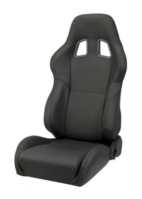 Corbeau A4 Reclinable Seat in Black Leather - PAIR