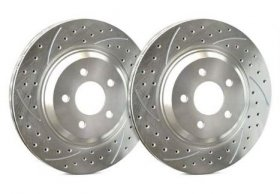 SP Performance FRONT Double Drilled and Slotted Rotors Genesis Coupe with NON-Brembo MODEL - PAIR