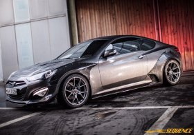 Sequence Carbon Fiber Widebody Flare Kit Genesis Coupe 2013 - 2016