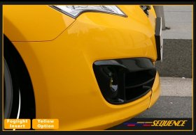 Sequence Fog light Bezels in Matte Black Genesis Coupe 2010 - 2012