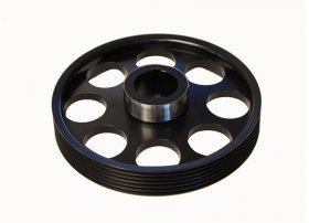 Torque Solution Lightweight Crank Pulley Genesis Coupe 3.8 2010 - 2016 (Black)