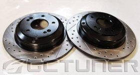 Economy Base Model Double Drilled Slotted Rotors Zinc Coated - Rear Pair Genesis Coupe