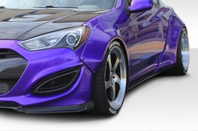 Extreme Dimensions Duraflex Circuit 75 MM Front Fender Flares Genesis Coupe 2013 - 2016