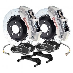 Brembo Grand Turismo Front Silver Big Brake Kit Genesis Coupe 2010 - 2016