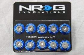 NRG 10 PIECE FENDER WASHER KIT - BLUE