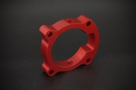 Torque Solution Red Throttle Body Spacer Genesis Coupe 2.0T 2010 - 2012