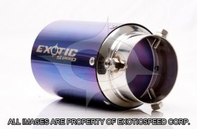 ExoticSpeed 115mm Universal (Type D) Bolt-on style EXHAUST TIPS 2010 - 2016