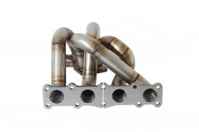 Full Race Top Mount T4 Dual 38mm Turbo Manifold Genesis Coupe 2.0T