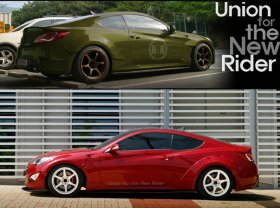 UNR Widebody Front and Rear Fender Flare Kit Genesis Coupe 2010 - 2016