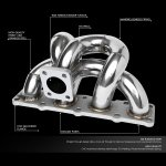DNA Motoring TD04 Turbo Manifold Genesis Coupe 2010 - 2012