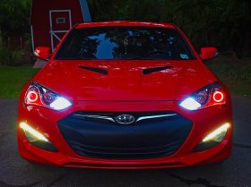 Diode Dynamics RED HD LED Halos Genesis Coupe 2010 - 2016