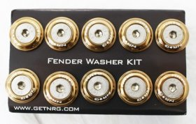 NRG 10 PIECE FENDER WASHER KIT - TITANIUM
