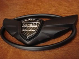The Art of Speed Genesis Coupe Wing Emblem Set - Matte Black