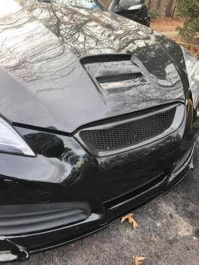 Boostec Carbon Fiber Front Grill Type 2 Genesis Coupe 2010 - 2012