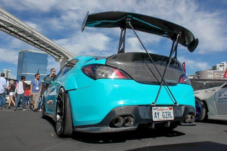 Rk Sport Fiberglass Rear Diffuser Genesis Coupe 2010 2016