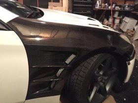 Abs Dynamics Carbon Fiber H2 Fenders 2010 -2016 Genesis Coupe