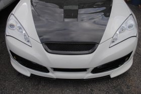 Sarona Carbon Fiber Front Grill Genesis Coupe 2010 - 2012