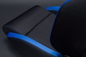 Sparco R100 Reclinbale Racing Seat Black Blue Cloth