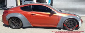 Remake BK1 Widebody Front and Rear Flare Kit Genesis Coupe 2010 - 2012