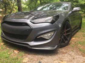 Boostec 3 piece Carbon Fiber Front Lip Genesis Coupe 2013 - 2016